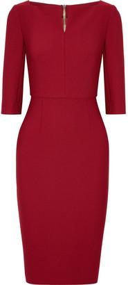 Roland Mouret - Etty Stretch-crepe Dress - Claret $1,685 thestylecure.com