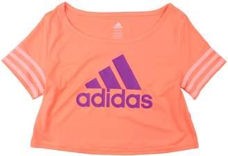 adidas Youth Big Girls Crop Flow Dance Tee