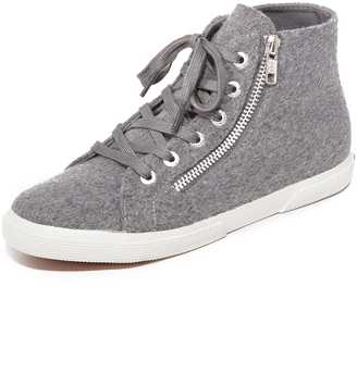 Superga 2224 Wool High Top Sneakers $99 thestylecure.com