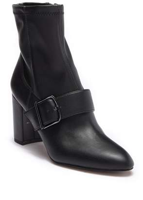Franco Sarto Eugenia Leather Buckle Bootie