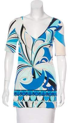 Emilio Pucci Printed Short Sleeve Top