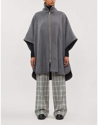 Stella McCartney Flared zip-up wool cape