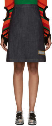 J.W.Anderson Blue Denim A-Line Skirt