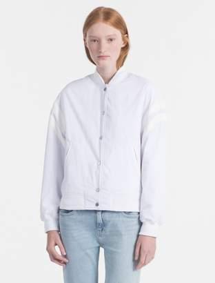 Calvin Klein varsity bomber jacket