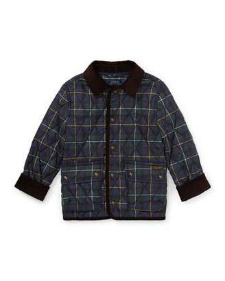 Ralph Lauren Childrenswear Kempton Quilted Plaid Jacket, Size 2-4