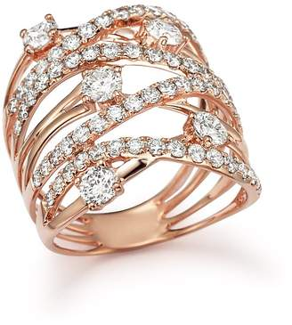 Diamond Statement Ring in 14K Rose Gold, 2.25 ct. t.w. - 100% Exclusive $11,200 thestylecure.com