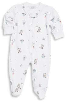 Kissy Kissy Baby's First Down Football Print Cotton Footie