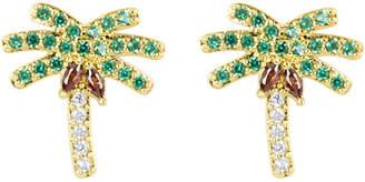 Henri Bendel Palm Tree Stud Earring