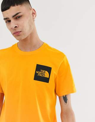 The North Face Fine t-shirt in orange