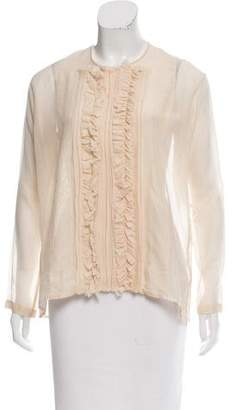 Lareida Semi-Sheer Long Sleeve Blouse w/ Tags