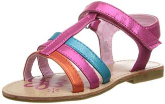Laura Ashley Shinny Velcro Strap Sandal (Toddler)