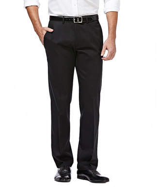 Haggar Premium No Iron Straight-Fit Flat-Front Khakis