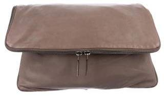 Helmut Lang Smooth Leather Fold-Over Clutch