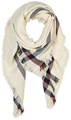 BEIGE Women Winter Fringe Shawl Wrap Warm Soft Large Square Scarf