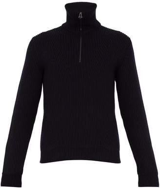 Lanvin Rack-stitched wool-blend sweater