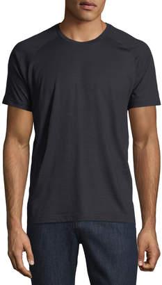 Ermenegildo Zegna Techmerino Techmerino Jersey Short-Sleeve T-Shirt, Dark Blue