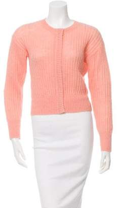 Sonia Rykiel Sonia by Cropped Rib Knit Cardigan