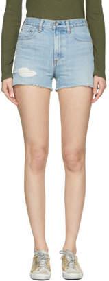 Rag & Bone Blue Justine Denim Shorts