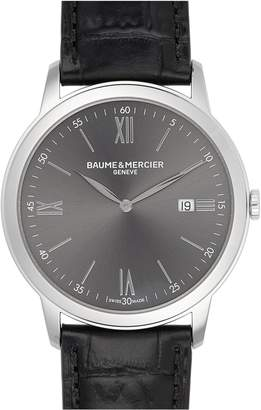 Baume & Mercier Classima Leather Strap Watch, 42mm