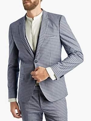 a569b5a9 HUGO BOSS HUGO by Glen Check Extra Slim Fit Suit Jacket, Blue