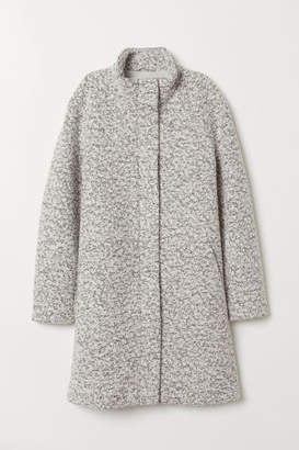 H&M Coat with Stand-up Collar - White