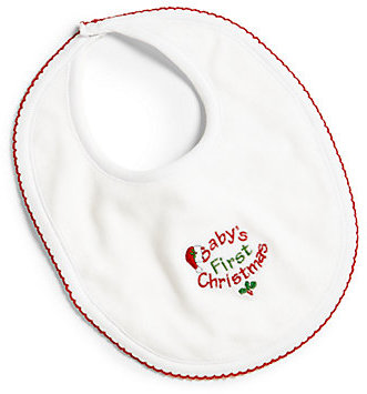 Kissy Kissy Baby's First Christmas Velour Bib