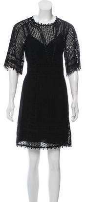 Rebecca Taylor Embroidered Knee-Length Dress