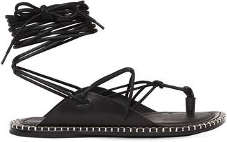 Ann Demeulemeester 10mm Lace-Up Leather Sandals