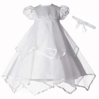 Ralph Lauren Madison Baby-Girls Newborn Handkerchief Skirt Dress Gown Outfit
