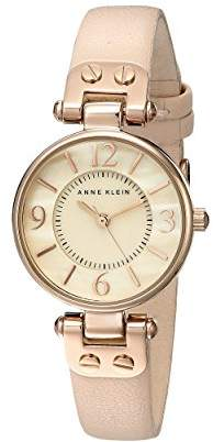 Anne Klein Women's 10/9442RGLP Rose Gold-Tone Watch with Leather Band