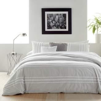 DKNY Chenille Stripe Comforter Set, Full/Queen
