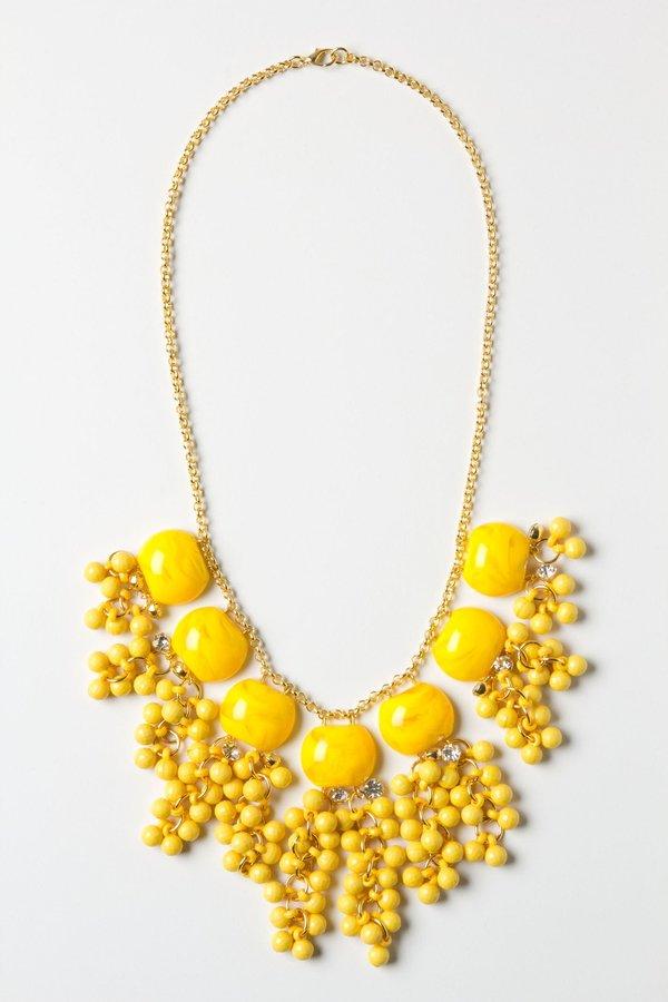 Anthropologie Lemon Zest Confetti Necklace