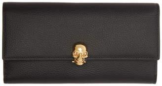 Alexander McQueen Black and Gold Skull Wallet