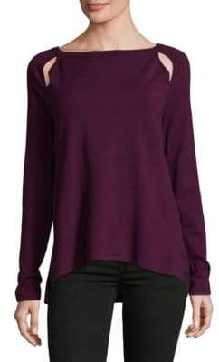 NYDJ Long-Sleeve Cutout Sweater
