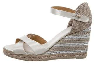 Castaner Metallic Espadrille Wedges