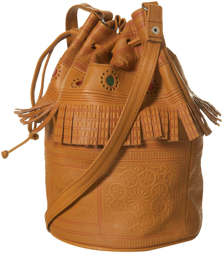 Tan Moroccan Leather Duffle Bag