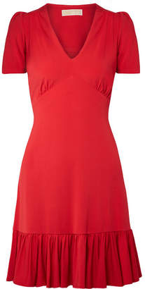 MICHAEL Michael Kors Ruffled Stretch-jersey Mini Dress - Red
