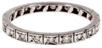 Vintage Art Deco Platinum Diamond Eternity Band Ring Size 6.5