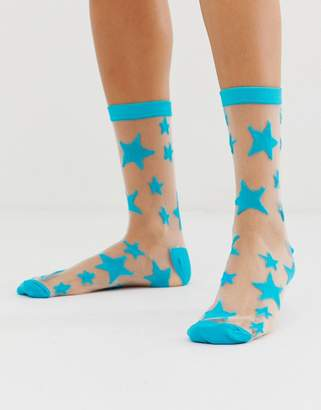 Gipsy Sheer Star Ankle socks