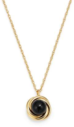 Bloomingdale's Onyx Swirl Pendant Necklace in 14K Yellow Gold, 18 - 100% Exclusive