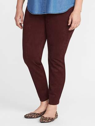 Old Navy High-Rise Plus-Size Sueded Stevie Pants