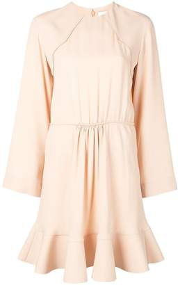 Chloé long-sleeve flared mini dress