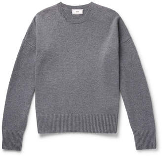 Oversized Melange Merino Wool And Cashmere-Blend Sweater
