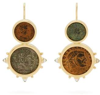 Dubini - Constantine 18kt Gold Earrings - Womens - Bronze