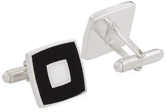Carrs of Sheffield Silver Square Enamelled Sterling Silver Cufflinks