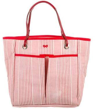 Anya Hindmarch Leather-Trimmed Striped Tote