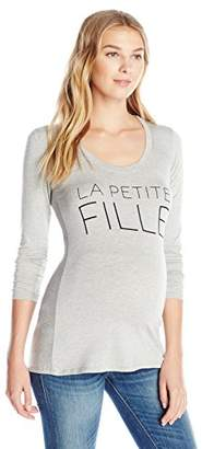 Lilac Maternity Women's Maternity Girl Frenchie Tee