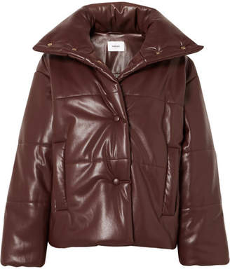 Nanushka - Hide Oversized Quilted Vegan Faux Leather Jacket - Plum