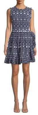 Kate Spade Eyelet Cotton Fit-&-Flare Dress