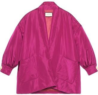 Gucci shawl collar bomber jacket